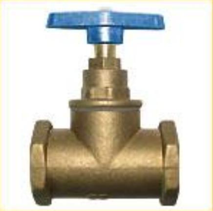 Клапани запірні муфтові (вентилі) 15Б3р вода, t до 75оC, PN = 16кгс/см2  25