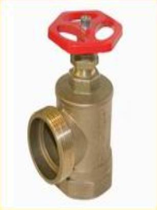 Клапан пожежного крана для управління подачею води з t до 50 ° C, PN = 16кг/см²  кутовий 50вх50зв