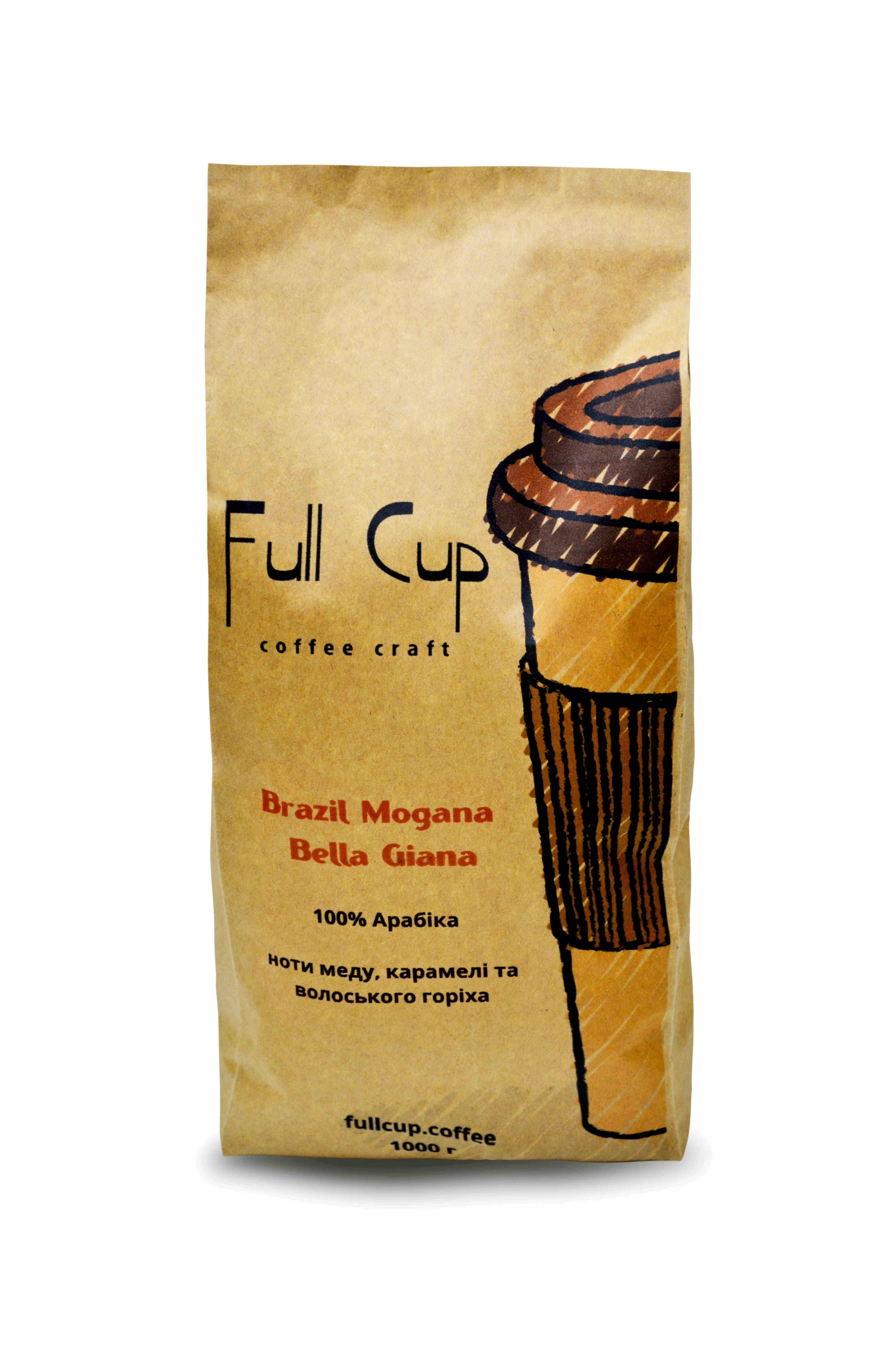 Арабика Brazil Mogana Bella Giana отличается отсутствием кислинки и исключительным карамельно-ореховым послевкусием...