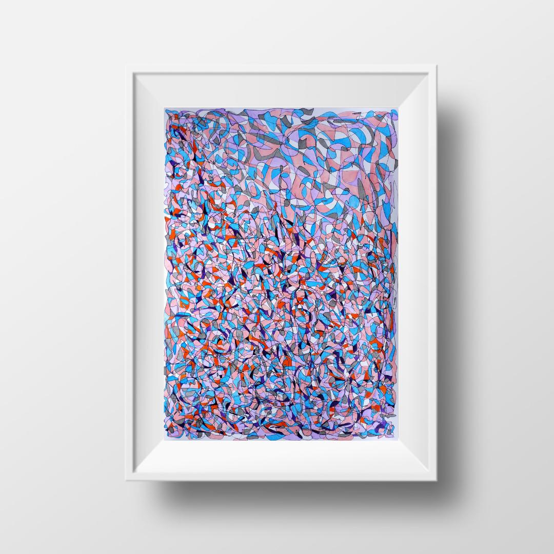 Мозаїка-2, 2021, чорнило на папері, 45*32 см