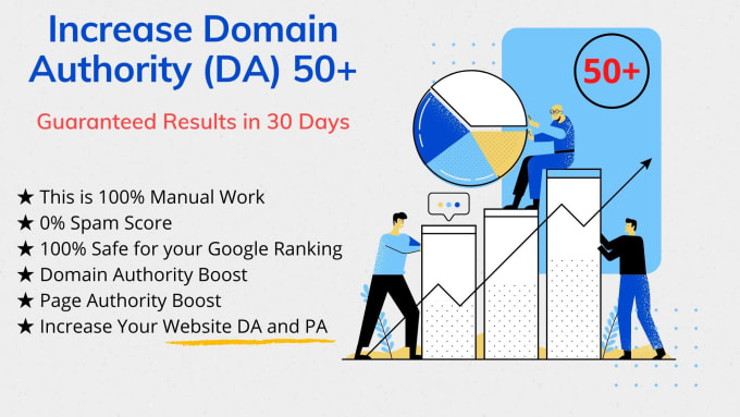 Increase Domain Authority to 50+