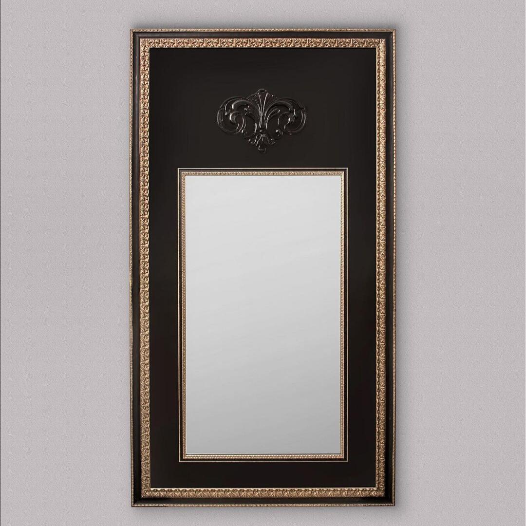 Зеркало со стеклянным барельефом