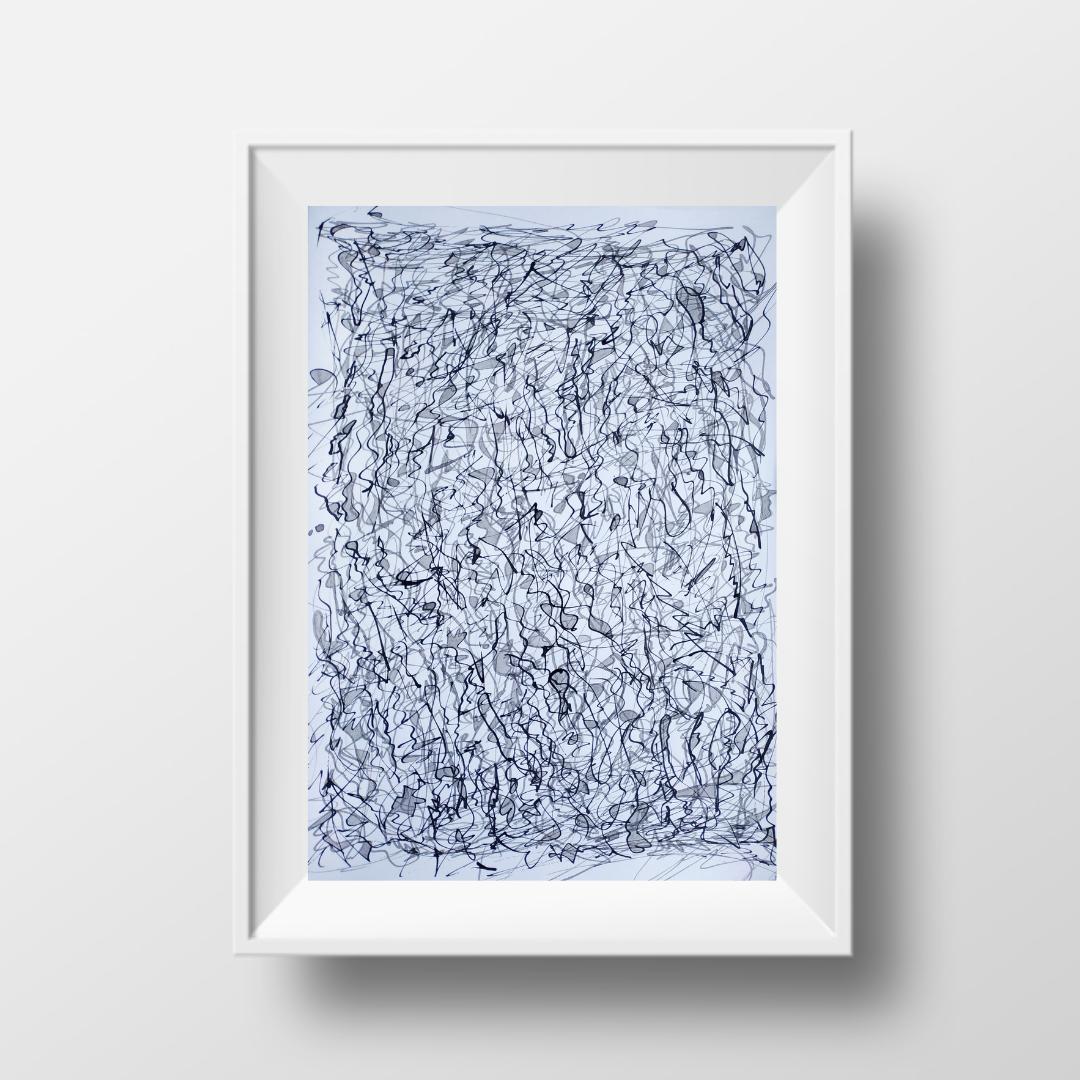 Сварка, 2021, чорнило на папері, 45*32 см