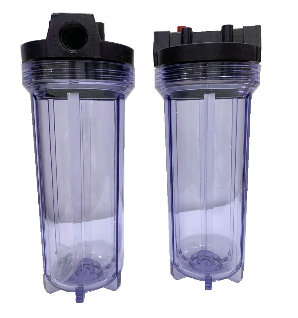Porta filtro transparente 10