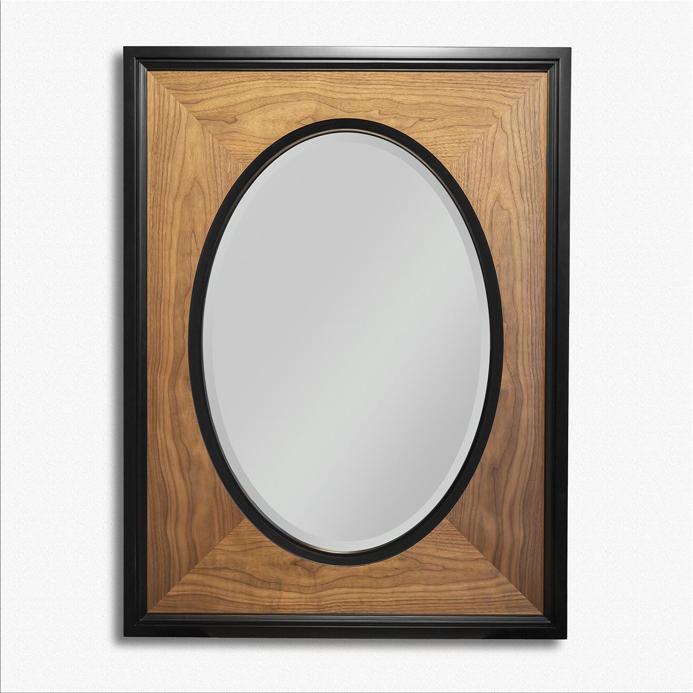 Зеркало со шпоном ореха