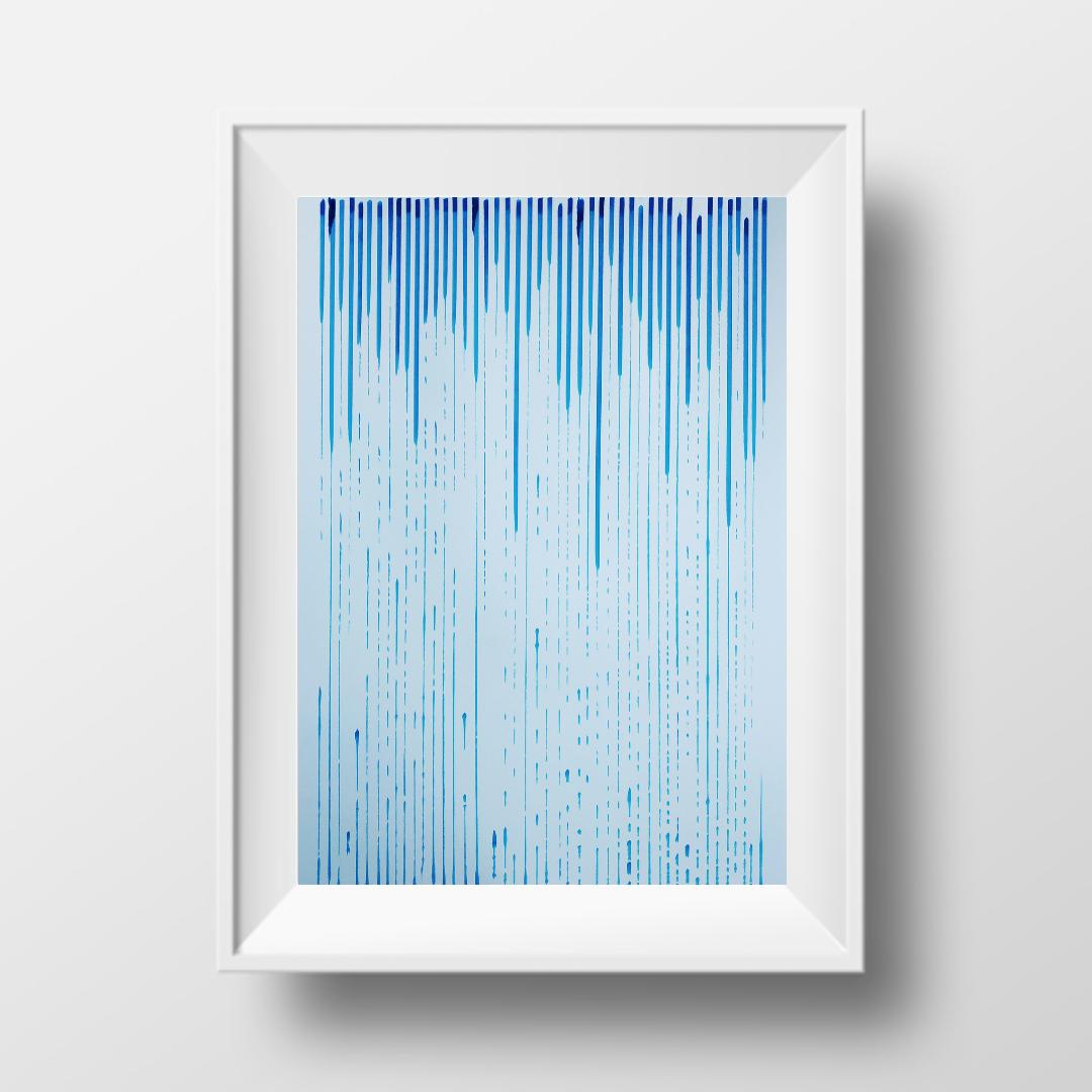 Дощить, 2020, чорнило на папері, 45*32 см