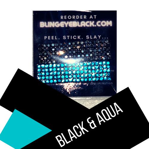 Black & Aqua
