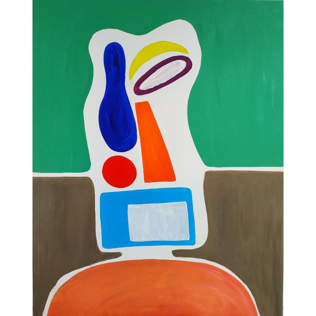 Автопортрет: Абстрактний Дорослий, 2020, Олія на полотні, 100*80 см
