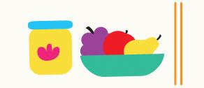 Frutas diversas.