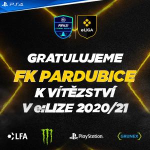 Gratulujeme FK Pardubice k vítězství v e:LIZE 2020/21