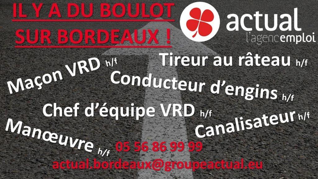 Pole emploi - offre emploi Ouvrier TP h/f - Bordeaux