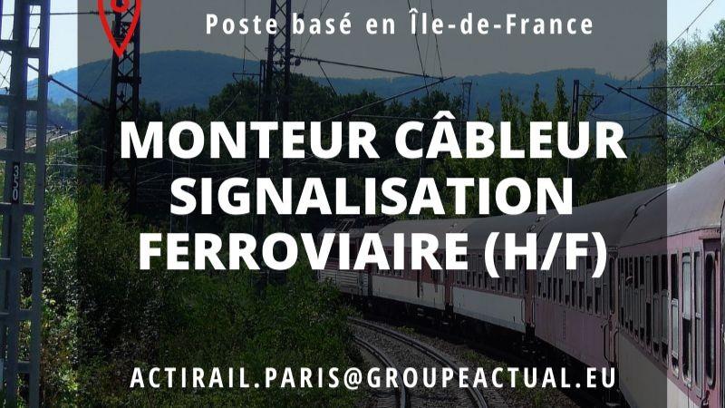 Pole emploi - offre emploi Monteur signalisation ferroviaire (H/F) - Noisy-Le-Sec