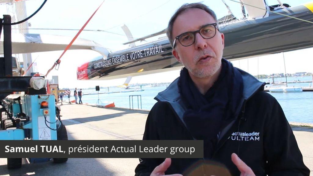 Actual Leader group : nouveau bateau, nouvelles ambitions ! Samuel Tual et Jean-Philippe Papin