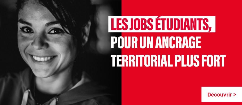 Les jobs étudiants, pour un ancrage territorial plus fort