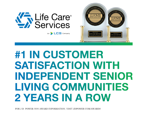 Life Care Services Ranked Highest in Customer Satisfaction among Independent Senior Living Communities | Eastcastle Place