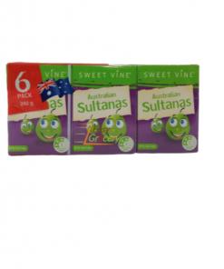 Sweet Vine Australian Sultanas 6 pack 240 gm