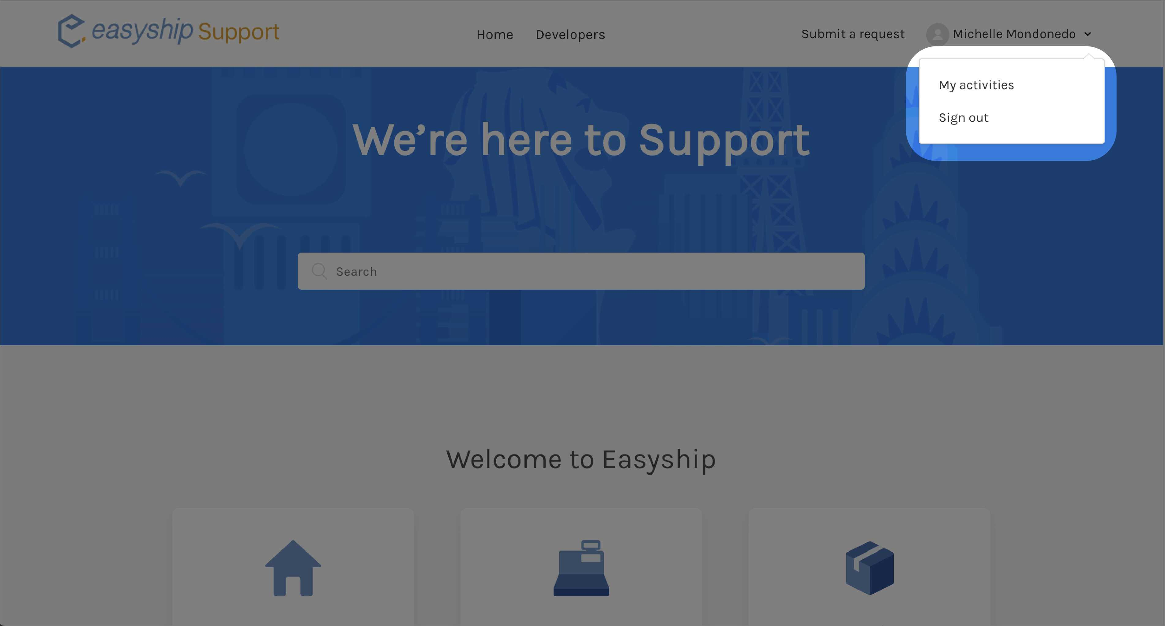 Easyship Support SSO 3
