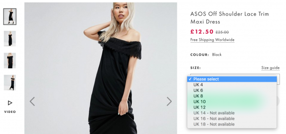 Easyship x ASOS Out of stock example2