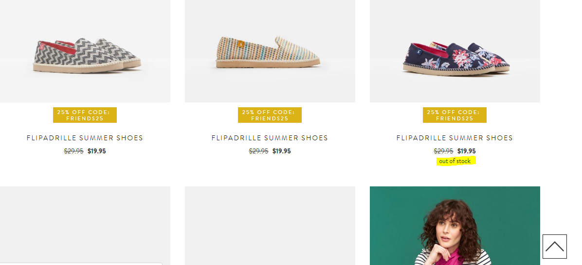 Easyship x Joules USA - Out of stock example4