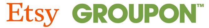 Etsy and Groupon Logos