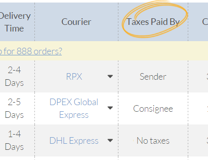 Easyship helps you to keep on top of your Taxes & Duties