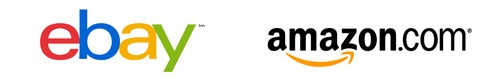 Ebay and Amazon Logos