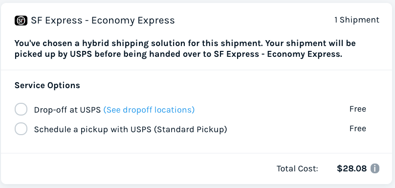SF Express ES Rate Comparison - 5