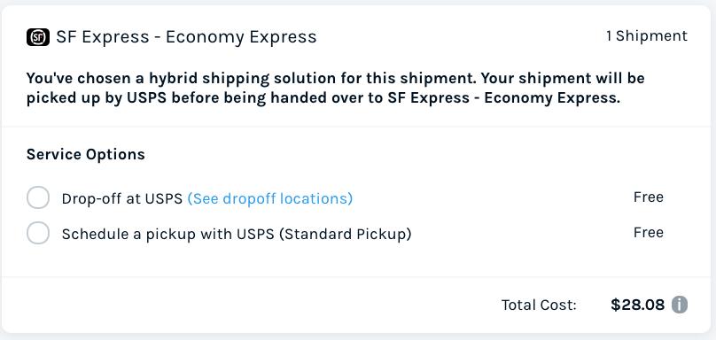 SF Express ES Rate Comparison - 5