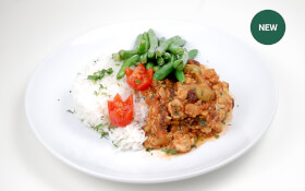 Tempeh Picadillo with Green Beans