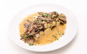 Mushroom Ragu with Herbed Polenta