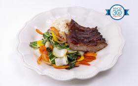 Sticky Beef with Cauli Fried Rice & Asian Blend