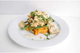 Almond Crusted Chicken with Whipped Butternut Squash & Green Beans