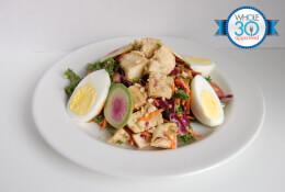 Chicken Kale Cobb Salad with Red Wine Vinaigrette