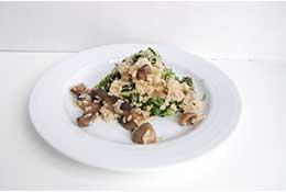 Mushroom Medley and Kale Risotto