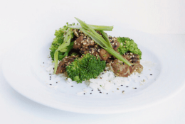 Sesame Ginger Beef & Broccoli Stir-Fry with Rice
