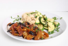 Spring Harvest Chicken with Herbed Zucchini & Brown Rice