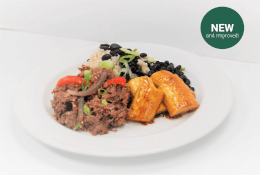 Ropa Vieja with Plantains, Black Beans & Brown Rice