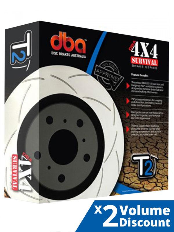 DBA2312S 2 x DBA T2 Slotted Rotor