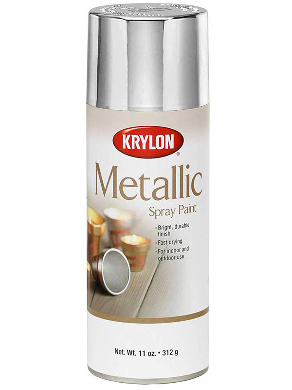 Details about Krylon General Purpose Gloss Metallic Silver Spray Paint 340g  (1406)