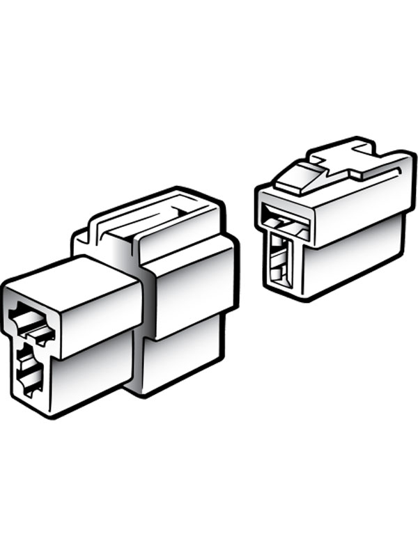 Narva 2 Way Male Quick Connector Housing With Terminals 20 Amp Pack