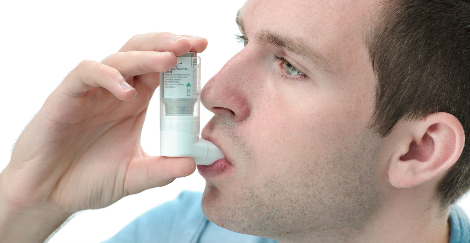 Echo-NHS-Healthcare-Man-Using-Ashtma-Inhaler