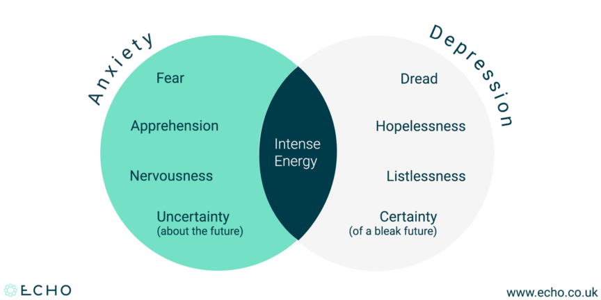 Depression and anxiety whats the difference echo echo echo nhs healthcare venn diagram ccuart Image collections