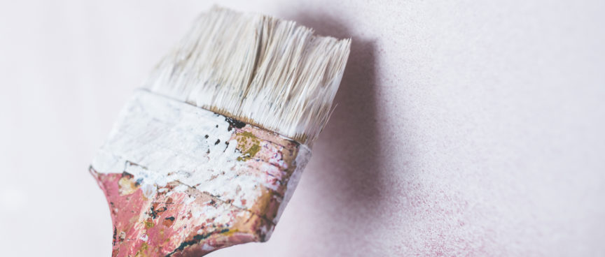 Echo-NHS-Healthcare-Paintbrush-Against-White-Wall