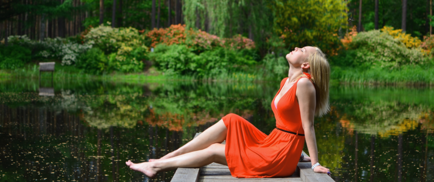 Echo-NHS-Healthcare-Stress-free-Woman-on-River