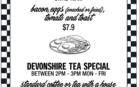 Breakfast & Devonshire Tea Specials