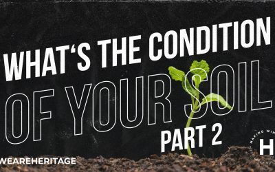 What's the condition of your soil? Part 2 | Ps Shaun Smit | August 29, 2021