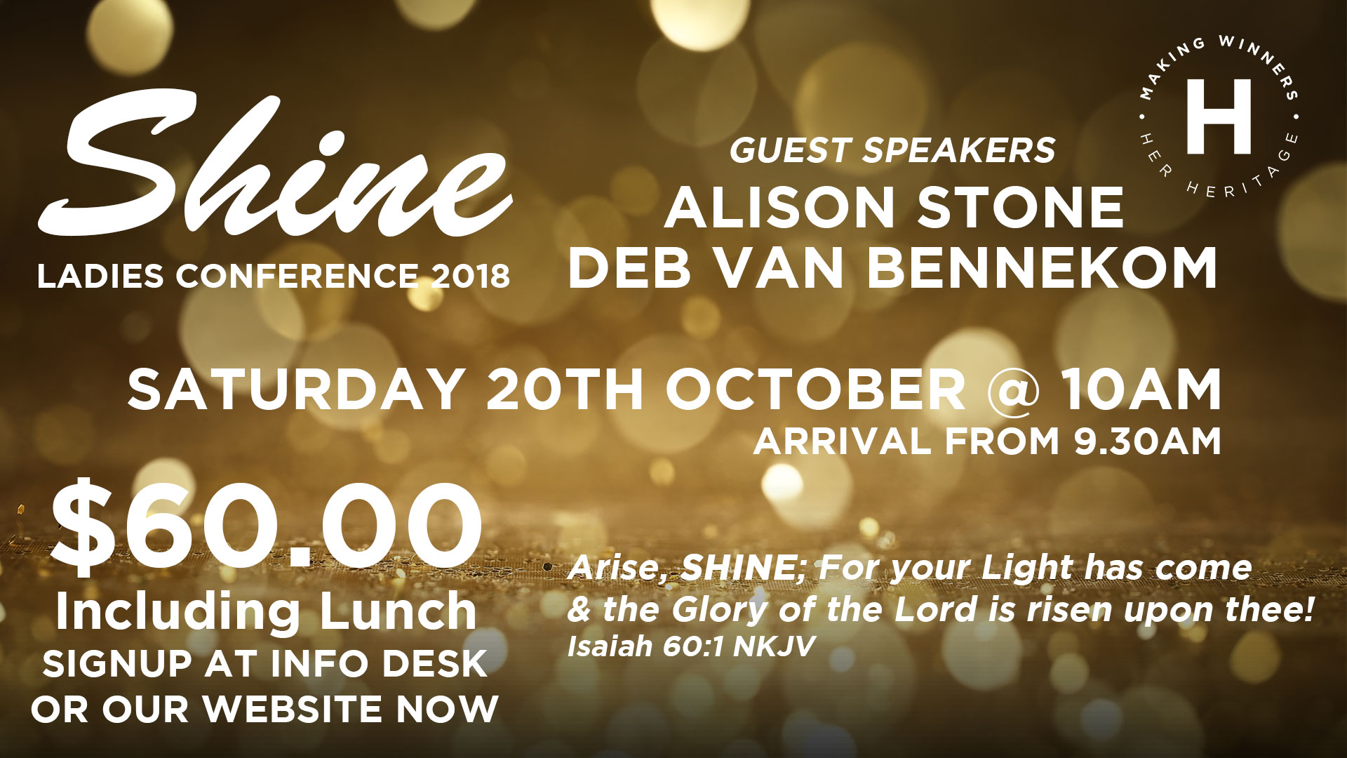 Shine Ladies Conference 2018