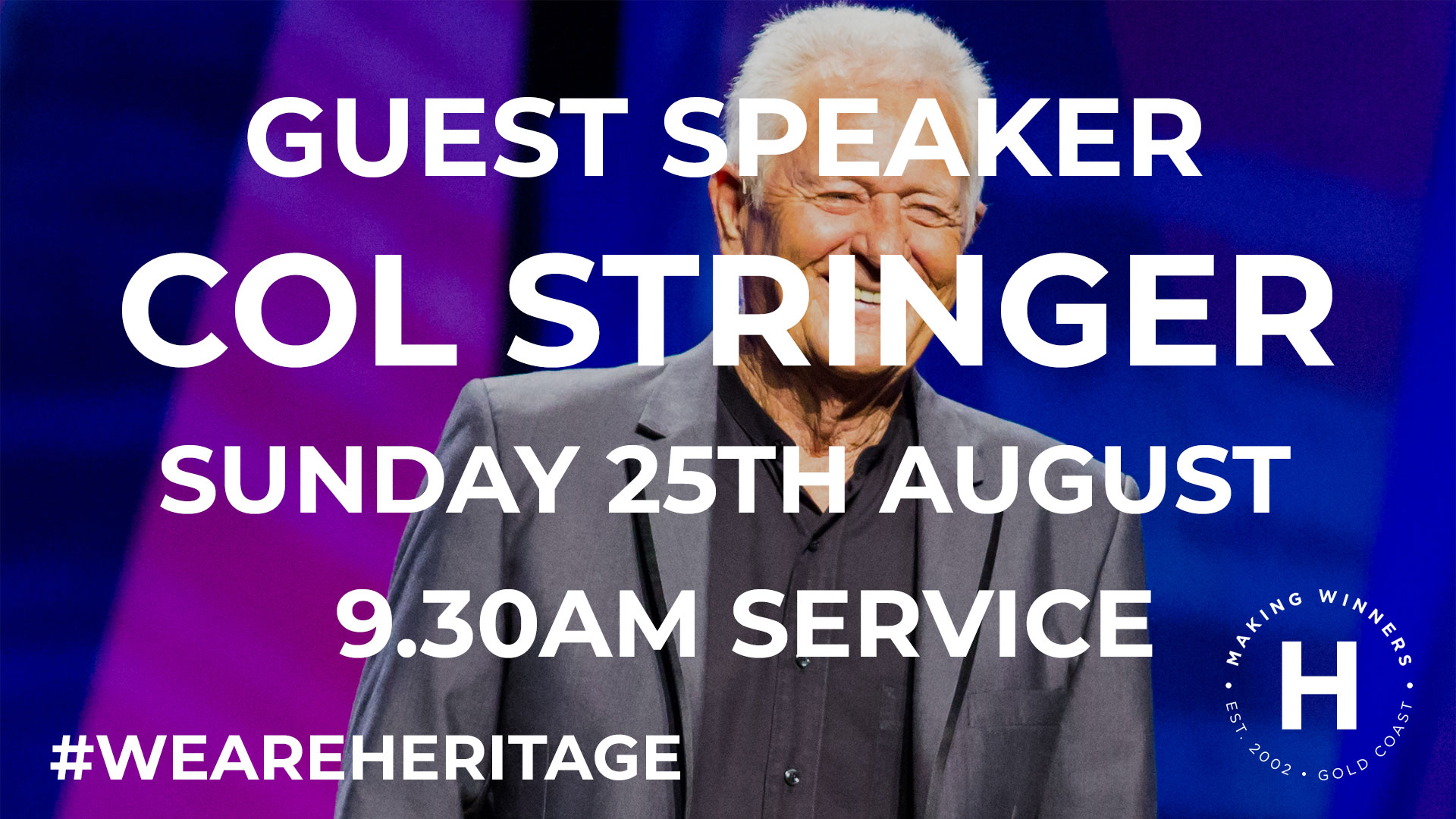 Guest Speaker Col Stringer
