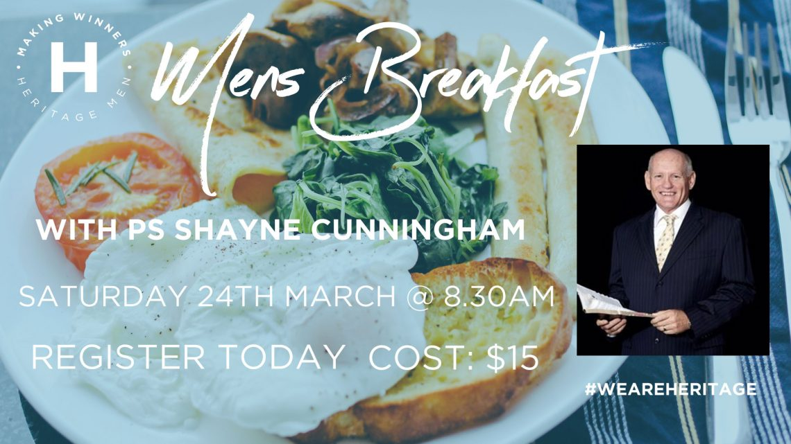 Heritage Mens Breakfast with Ps Shayne Cunningham