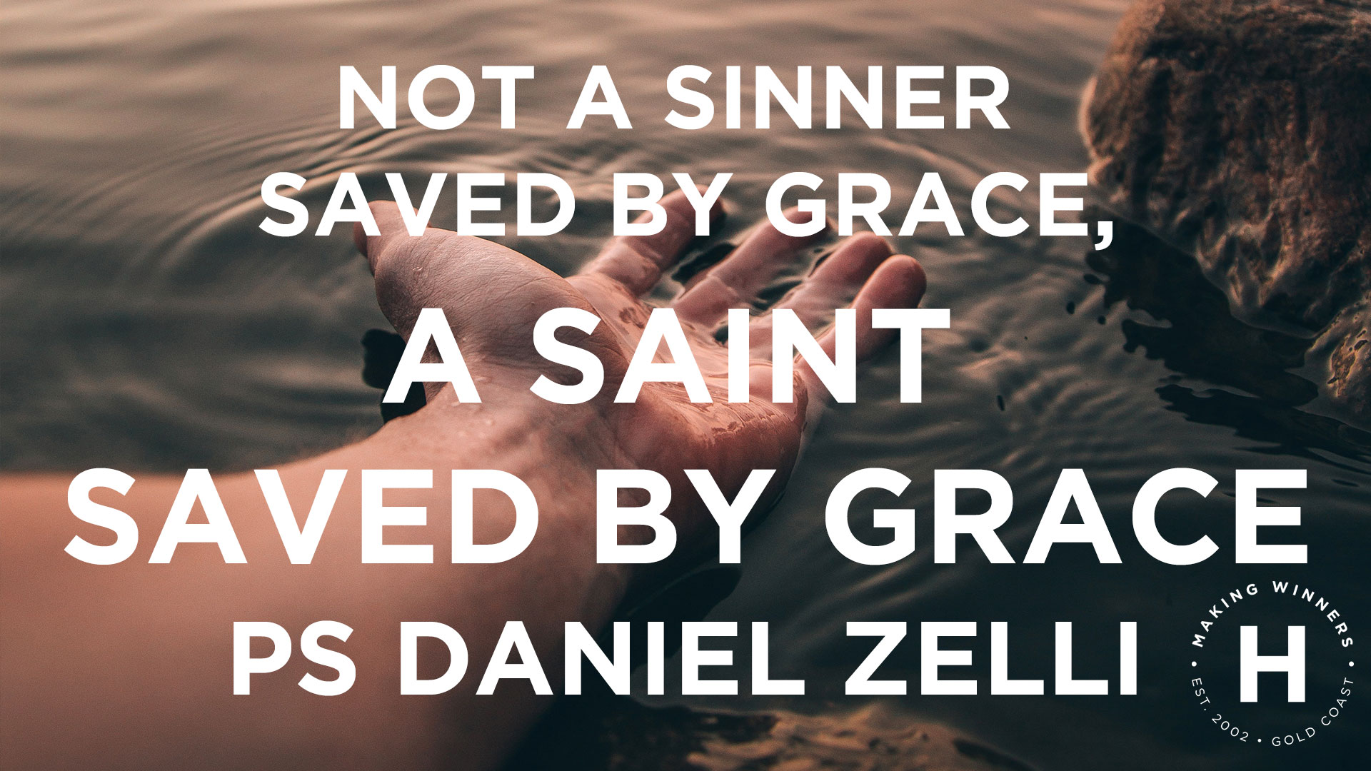 Not a Sinner Saved by Grace, a Saint Saved by Grace